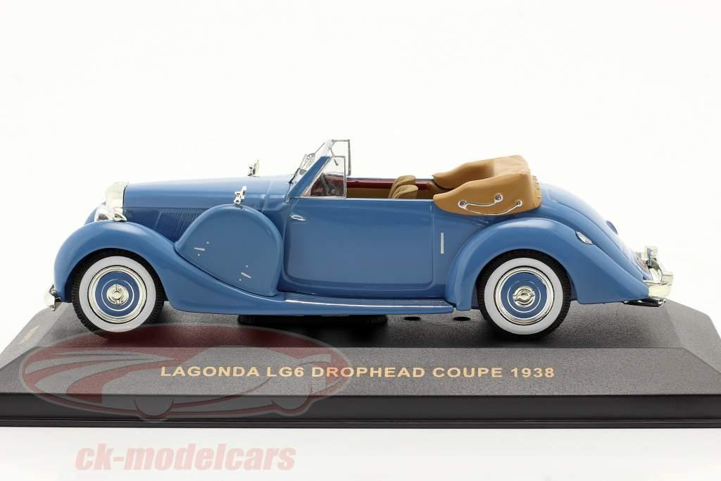 Lagonda LG6 Drophead Coupe Bj. 1938 blau / blue 1:43 Ixo