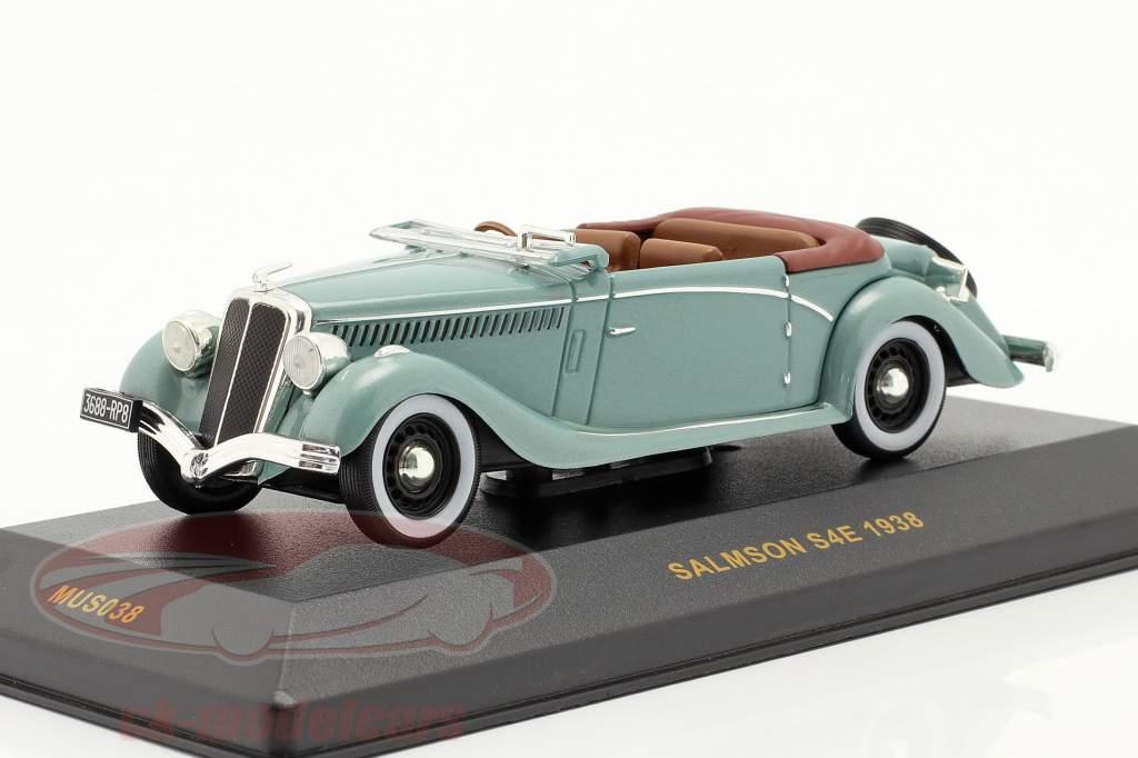 Salmson S4E jaar 1938 groen metalen 1:43 Ixo