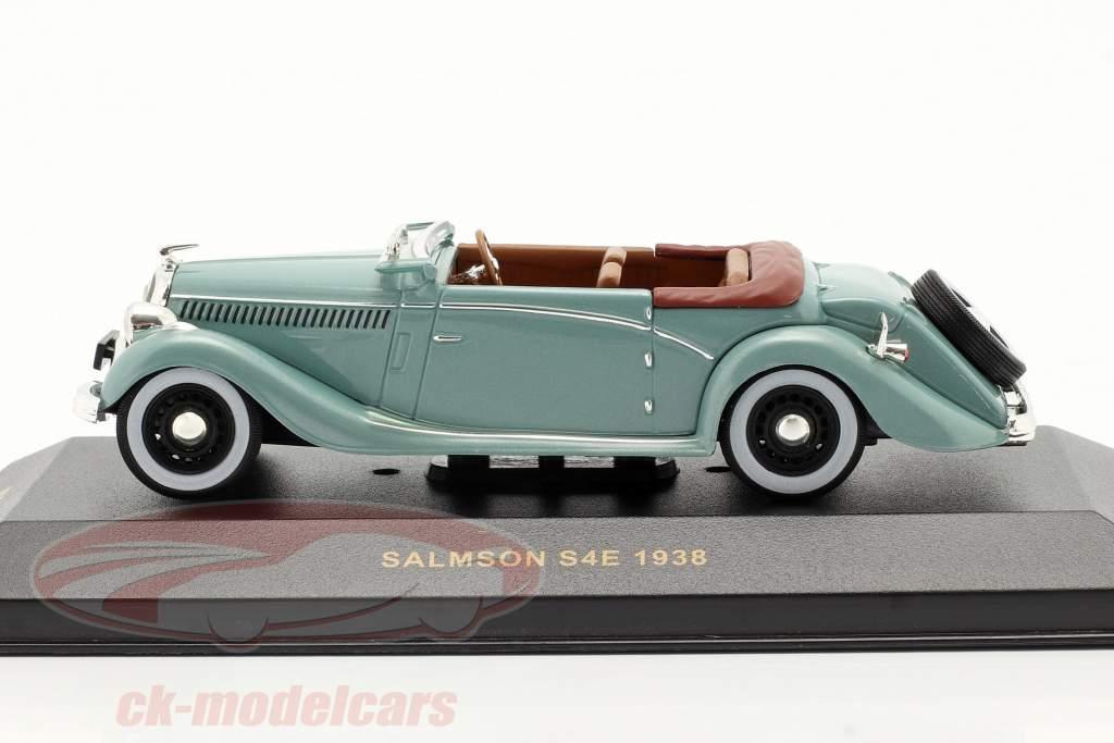 Salmson S4E år 1938 grøn metallisk 1:43 Ixo