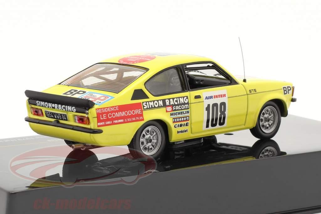 Opel Kadett #108 J.L. Clarr 4º viagem de França 1979 1:43 Ixo