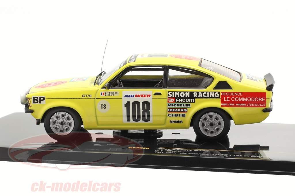 Opel Kadett #108 J.L. Clarr 4. plads rejse de Frankrig 1979 1:43 Ixo