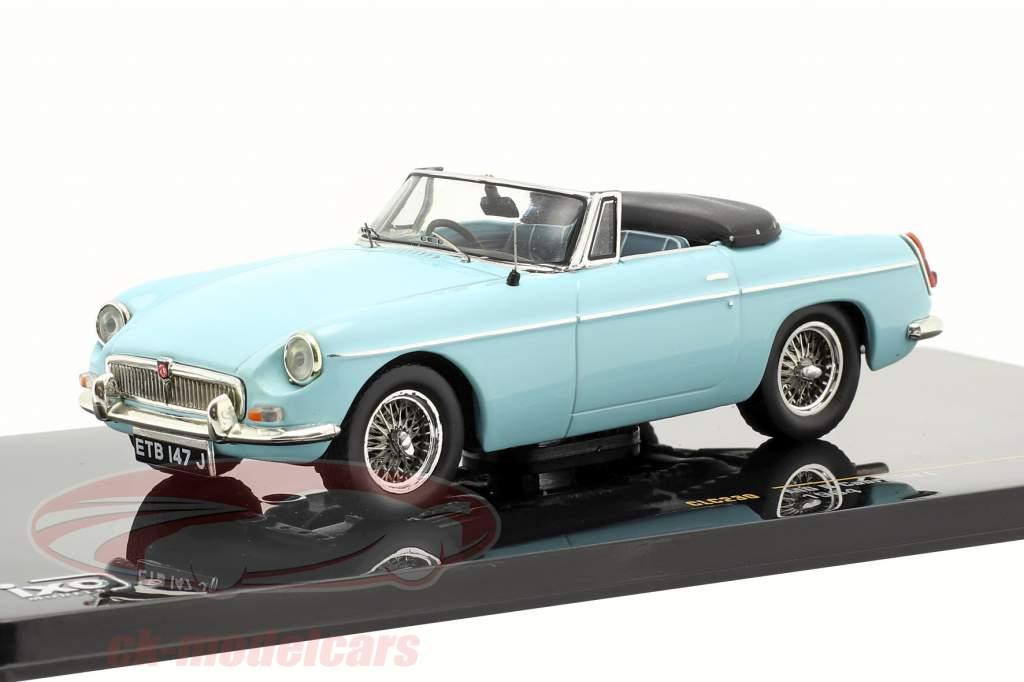 MG B Cabriolet L anno 1964 luce blu 1:43 Ixo
