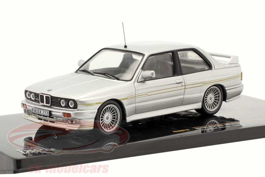 BMW Alpina B6 3.5S year 1989 silver metallic / silver metallic 1:43 Ixo