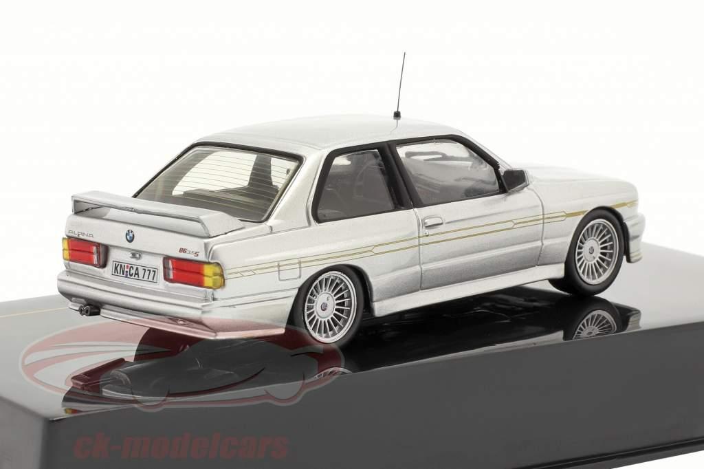 BMW Alpina B6 3.5S Jaar 1989 zilver metallic / zilver metallic 1:43 Ixo