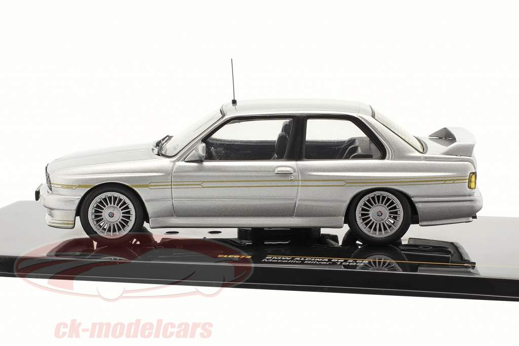 BMW Alpina B6 3.5S année 1989 argent métallisé / argent métallique 01h43 Ixo