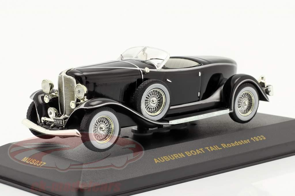 Auburn Boat Tail Roadster 1933 black 1:43 Ixo
