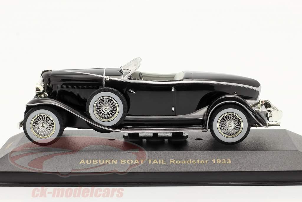 Auburn Boat Tail Roadster Bj 1933 Zwart / zwart 1:43 Ixo