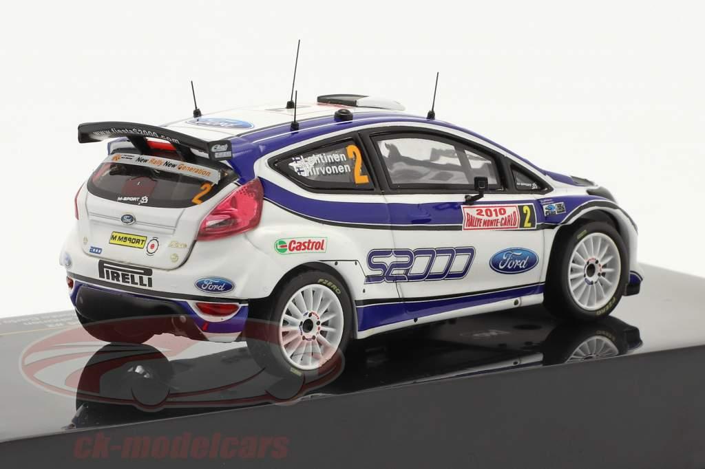 Ford Fiesta S2000 Hirvonen N° 2, Lehtinen Vainqueur Rallye Monte-Carlo 2010 1:43 Ixo