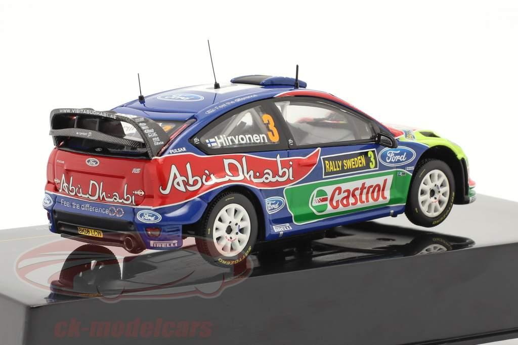 Ford Focus WRC #3 gagnant Rally Suède 2010 Hirvonen, Lehtinen  1:43 Ixo