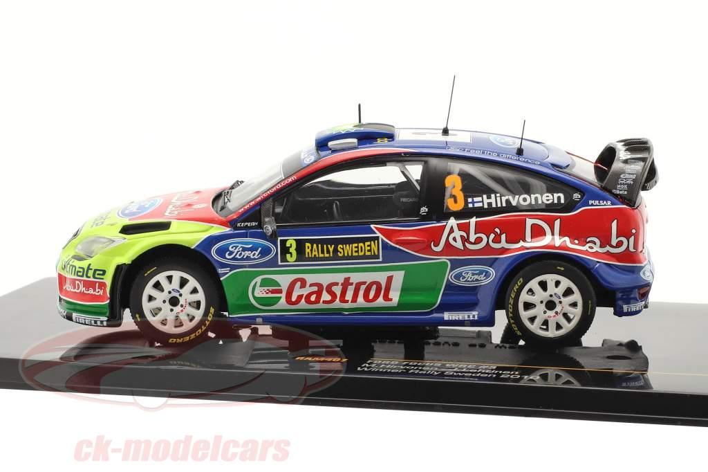 Ford Focus WRC #3 Sieger Rally Schweden 2010 Hirvonen, Lehtinen  1:43 Ixo