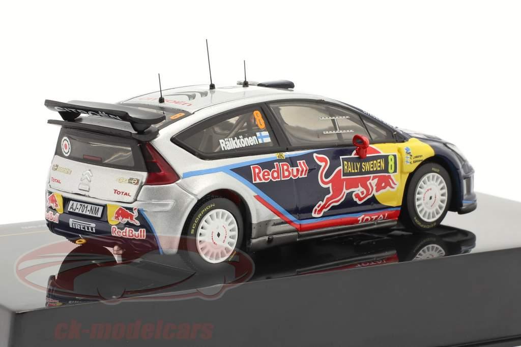 Citroen C4 WRC n º 8 Raikkonen, Lindstrom Swedish Rally 2010 1:43 Ixo