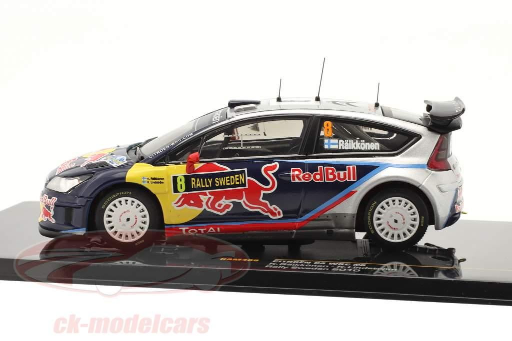 Citroen C4 WRC #8 Raeikkoenen, Lindstroem Rally Sweden 2010 1:43 Ixo