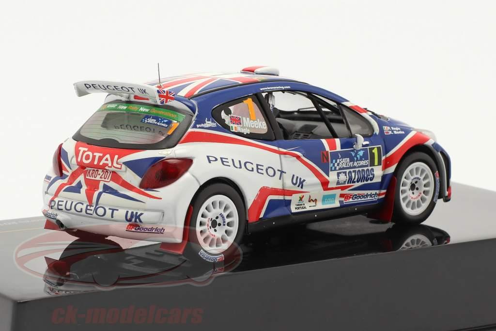 Peugeot 207 S2000 N° 1 Meeke, Nagle Sata Rally Acores Vincitore 2010 1:43 Ixo