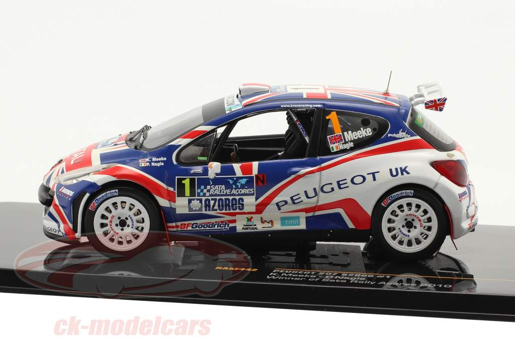 Peugeot 207 S2000 #1 Meeke, Nagle Sata Rally Acores Winner 2010 1:43 Ixo