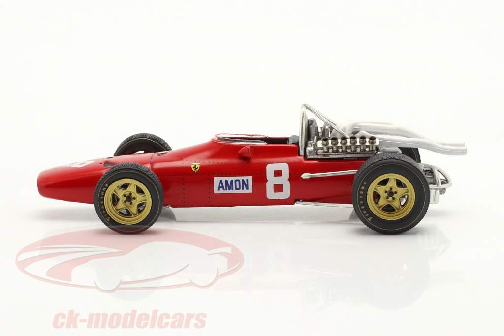 Chris Amon Ferrari 312 n º 8 Nürburgring GP de Fórmula 1 1967 1:43 Ixo
