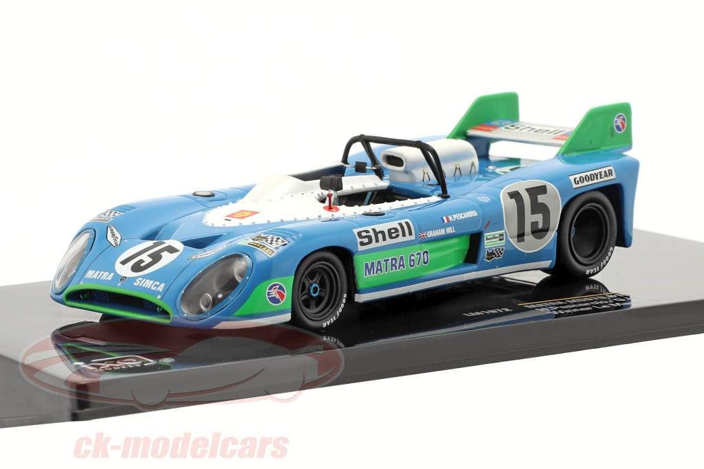 Matra MS670 #15 vinder 24h LeMans 1972 Pescarolo, Hill 1:43 Ixo