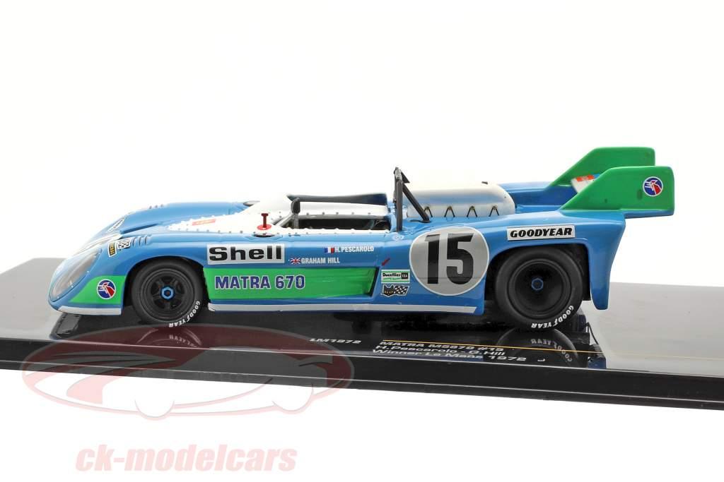 Matra MS670 #15 vencedora 24h LeMans 1972 Pescarolo, Hill 1:43 Ixo