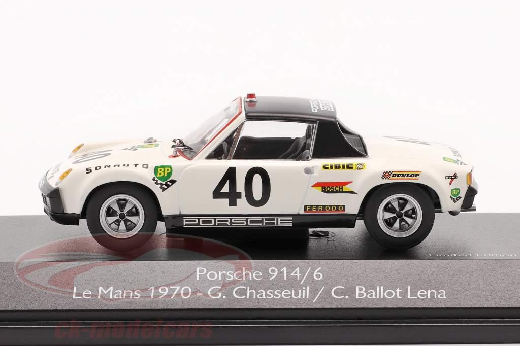 Porsche 914/6 #40 24h LeMans 1970 Chasseuil, Ballot Lena 1:43 Schuco