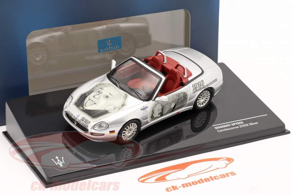 Maserati Spyder Cambiocorsa byggeår2002 sølv Albert Einstein 1:43 Ixo