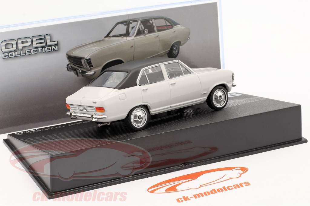 Opel Olympia A bouwjaar 1967-1970 lichtgrijs / zwart 1:43 Altaya