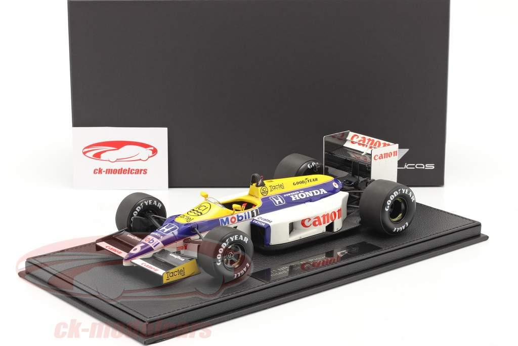 Nelson Piquet Williams FW11 #6 formule 1 1986 Avec Vitrine 1:18 GP Les répliques
