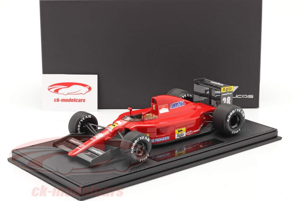 Jean Alesi Ferrari 642 #28 formule 1 1991 Met Showcase 1:18 GP Replicas