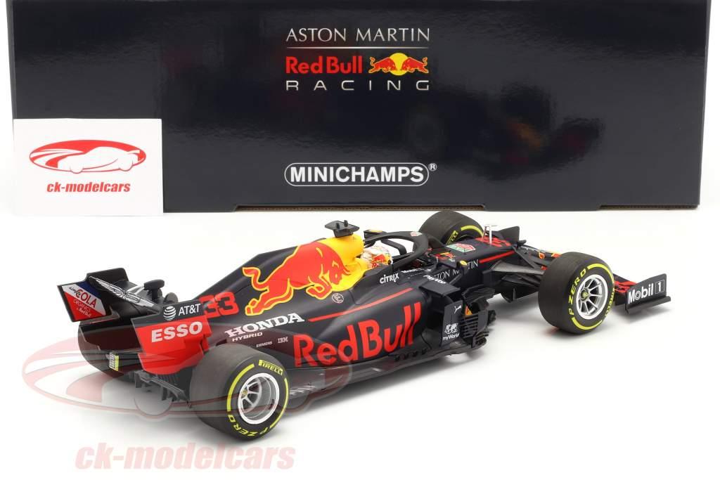M. Verstappen Red Bull Racing RB16 #33 Winner 70th Anniversary GP F1 2020 1:18 Minichamps