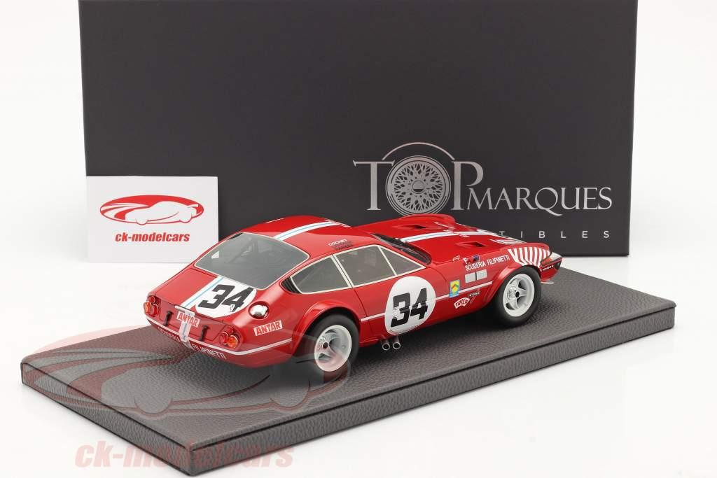 Ferrari 365 GTB/4 Daytona #34 7° 24h LeMans 1972 1:18 TopMarques