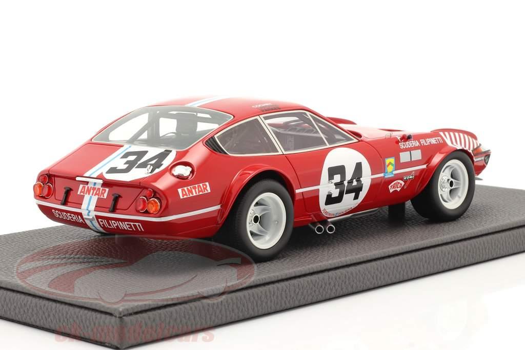 Ferrari 365 GTB/4 Daytona #34 Séptimo 24h LeMans 1972 1:18 TopMarques