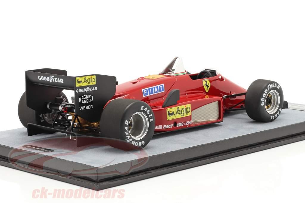 Michele Alboreto Ferrari 156/85 Trykke version formel 1 1985 1:18 Tecnomodel