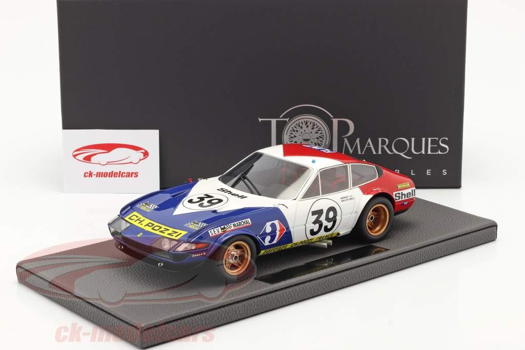 Ferrari 365 GTB/4 Daytona #39 5° 24h LeMans 1972 1:18 TopMarques