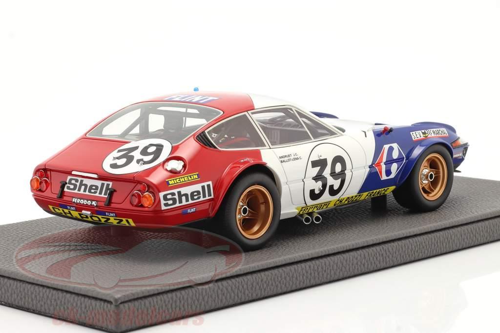 Ferrari 365 GTB/4 Daytona #39 Quinto 24h LeMans 1972 1:18 TopMarques