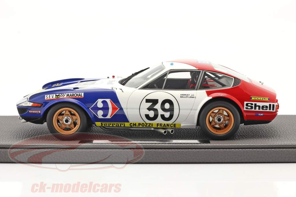 Ferrari 365 GTB/4 Daytona #39 5e 24h LeMans 1972 1:18 TopMarques