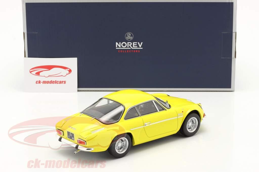 Alpine A110 1600S Ano de construção 1971 amarelo 1:18 Norev