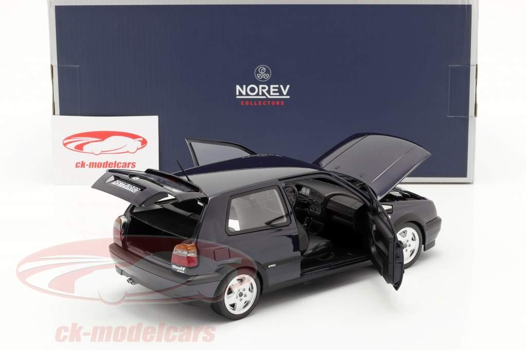 Volkswagen VW Golf VR6 Año de construcción 1996 azul metálico 1:18 Norev