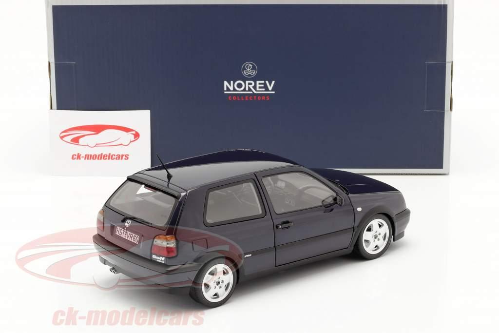 Volkswagen VW Golf VR6 Ano de construção 1996 azul metálico 1:18 Norev