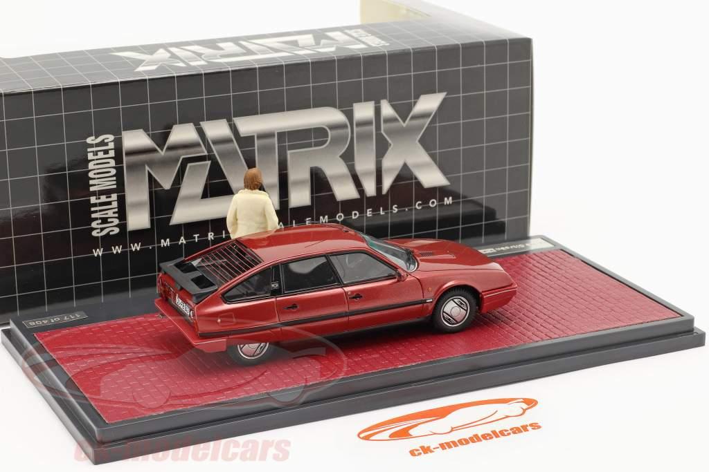 Citroen CX 25 GTi Turbo 2 1986 séries de TV Tatort Com figura vermelho 1:43 Matrix
