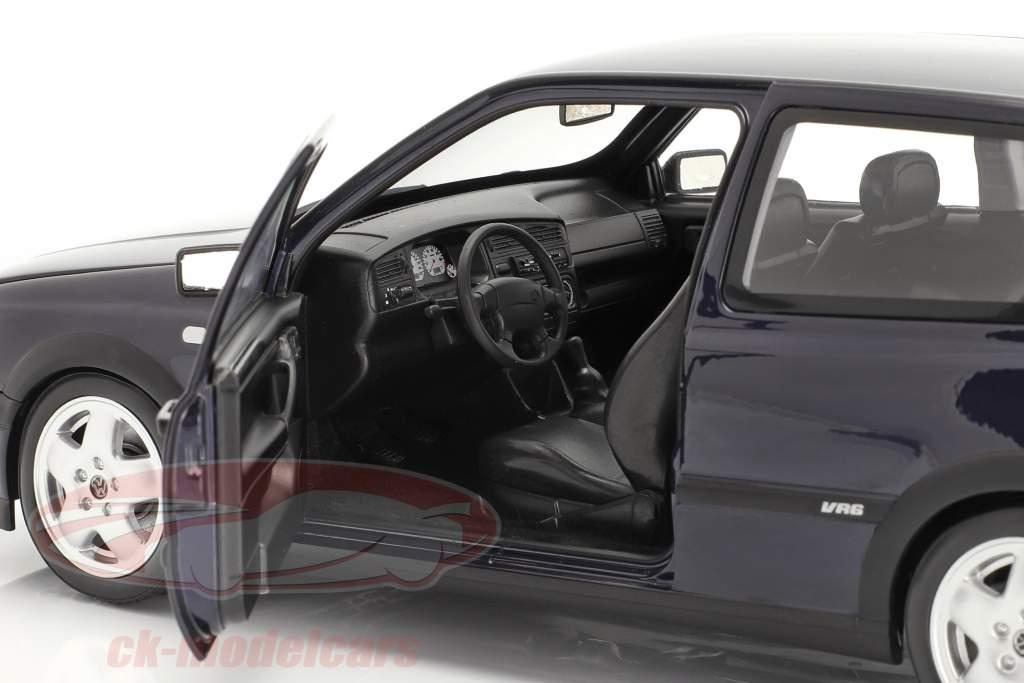 Volkswagen VW Golf VR6 Année de construction 1996 bleu métallique 1:18 Norev