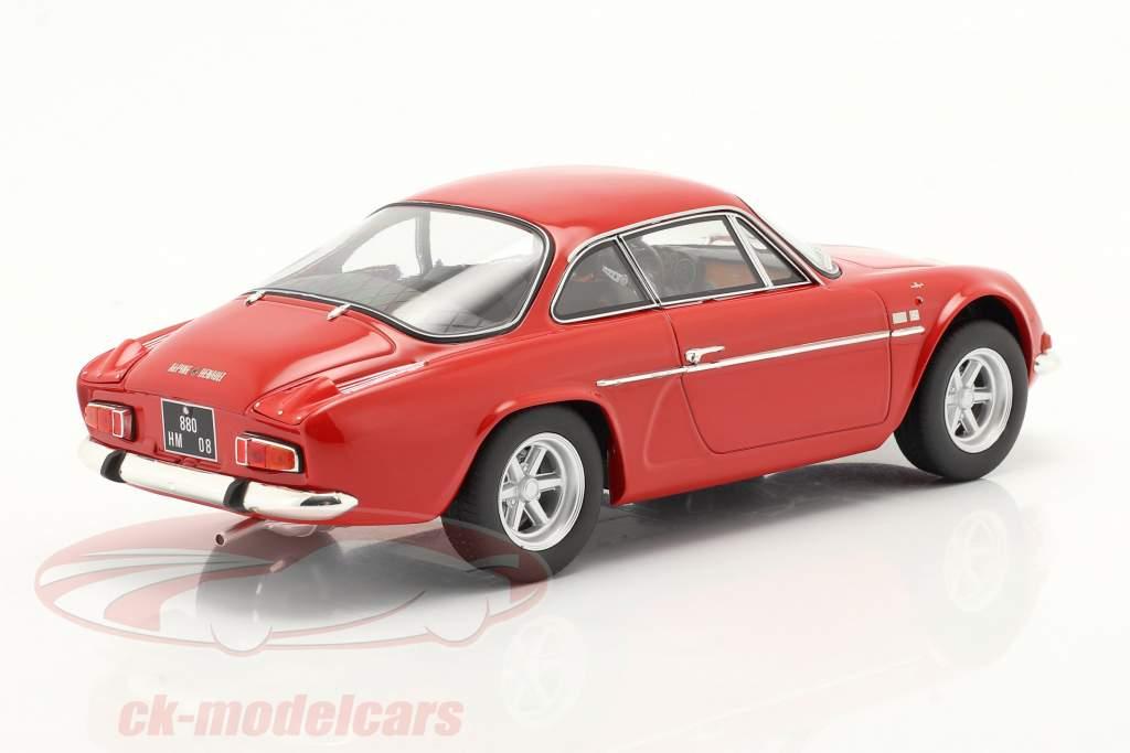 Alpine A110 1600S Ano de construção 1969 vermelho 1:18 Norev