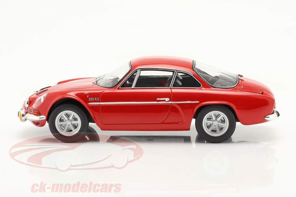 Alpine A110 1600S Byggeår 1969 rød 1:18 Norev