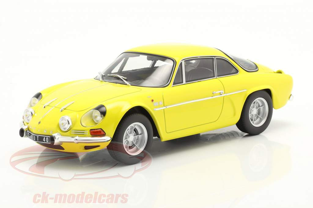 Alpine A110 1600S year 1971 yellow 1:18 Norev