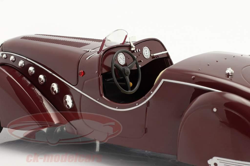 Peugeot 302 Darl'Mat Roadster year 1937 dark red metallic 1:18 Norev
