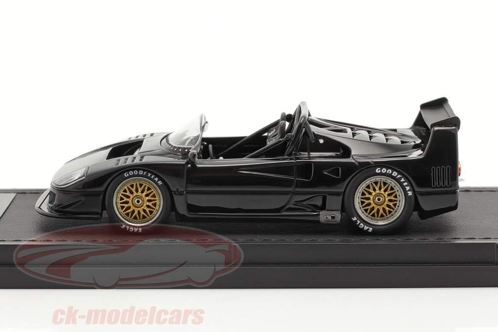 Ferrari F40 LM Beurlys Barchetta Spider Année de construction 1989 noir 1:43 TopMarques