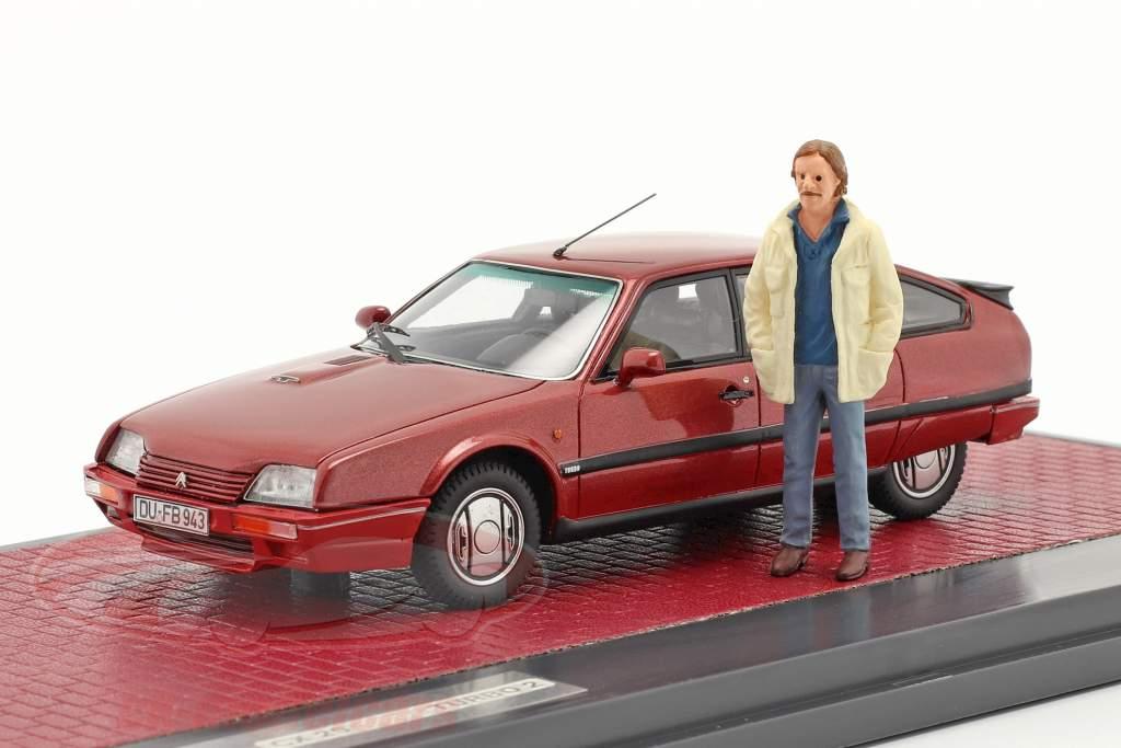 Citroen CX 25 GTi Turbo 2 1986 TV series Tatort with figure red 1:43 Matrix