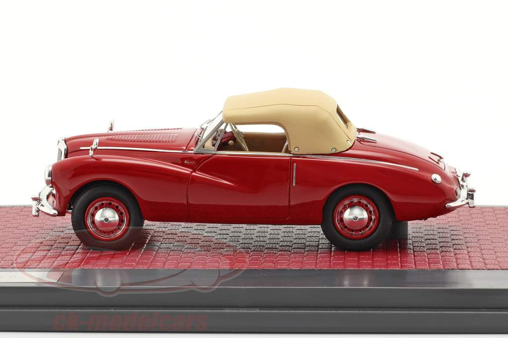 Sunbeam Alpine Closed Top Année de construction 1953-1955 rouge 1:43 Matrix