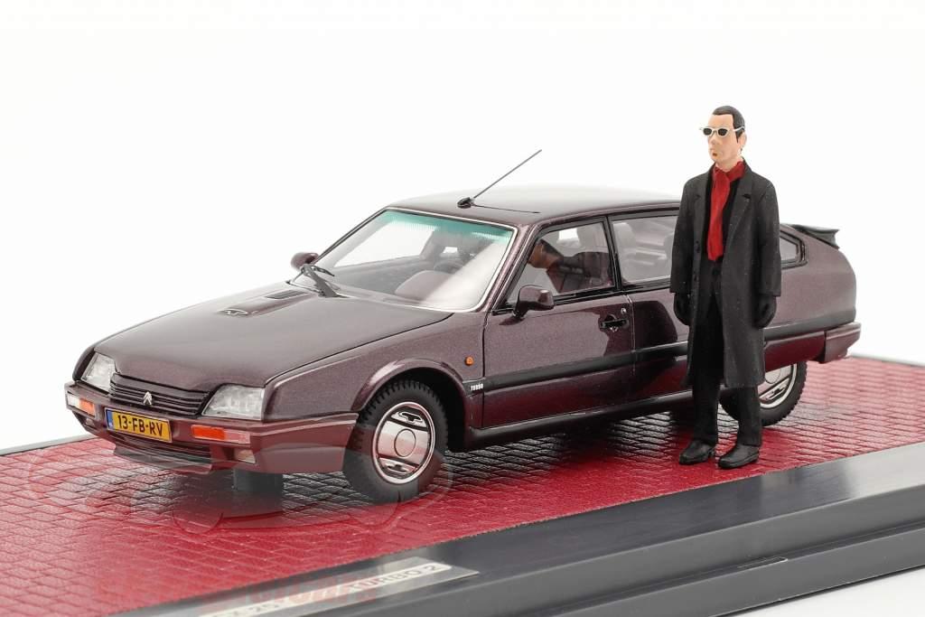 Citroen CX 25 GTi Turbo 2 1986 mit Figur cassis metallic 1:43 Matrix