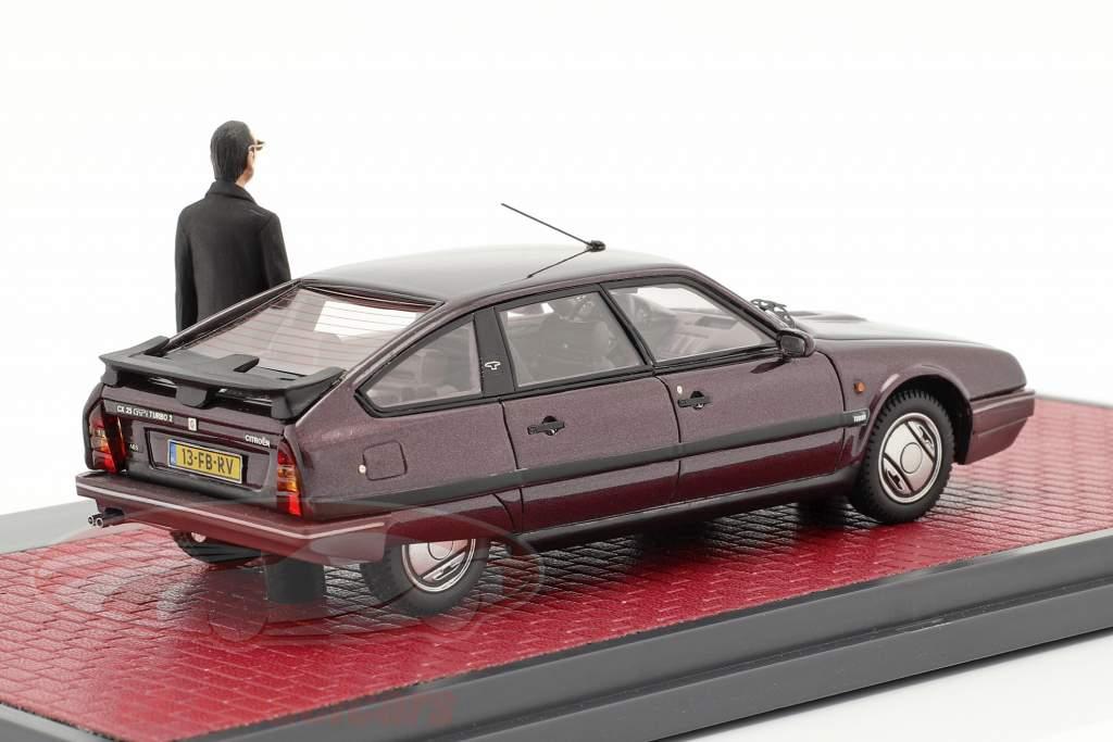Citroen CX 25 GTi Turbo 2 1986 Med figur Cassis metallisk 1:43 Matrix