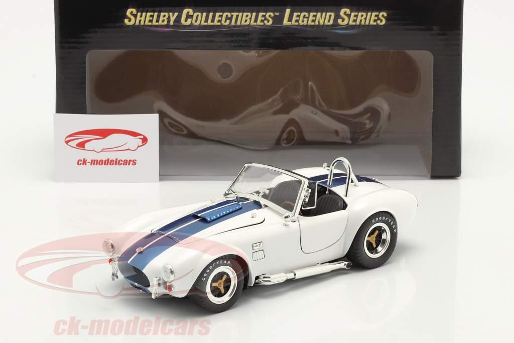 Shelby Cobra 427 S/C Byggeår 1965 hvid / blå 1:18 ShelbyCollectibles 2. valg