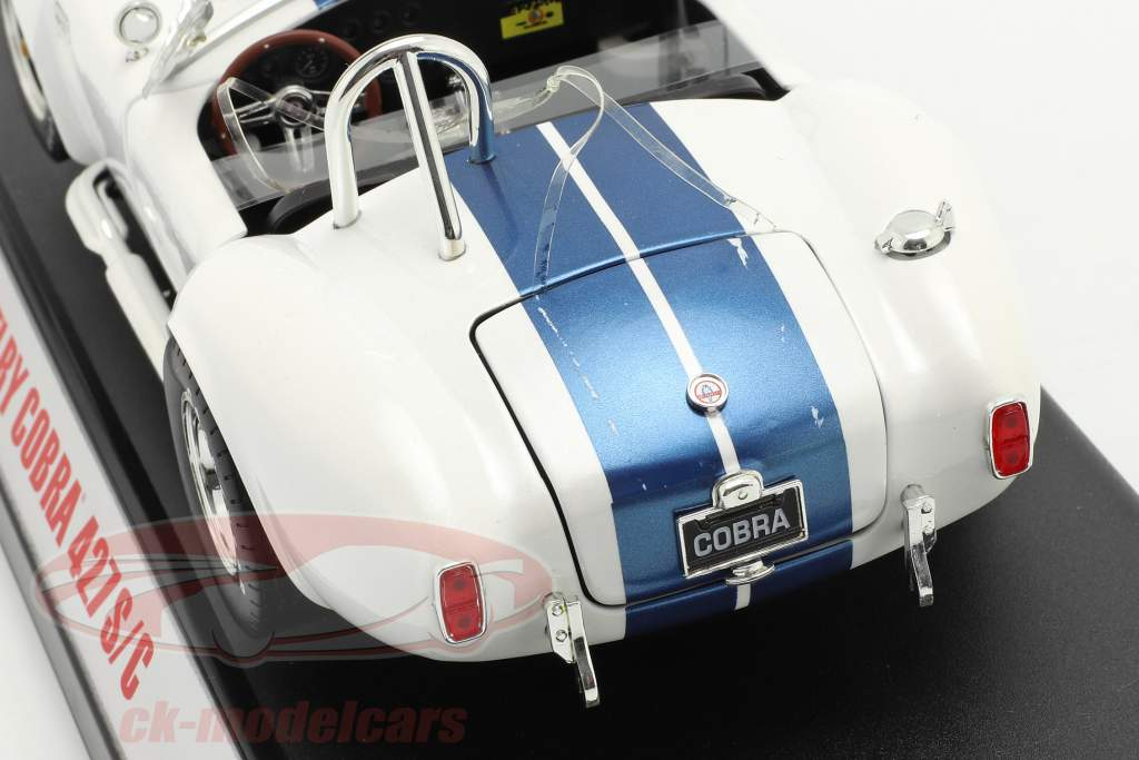 Shelby Cobra 427 S/C Baujahr 1965 weiß / blau 1:18 ShelbyCollectibles / 2. Wahl