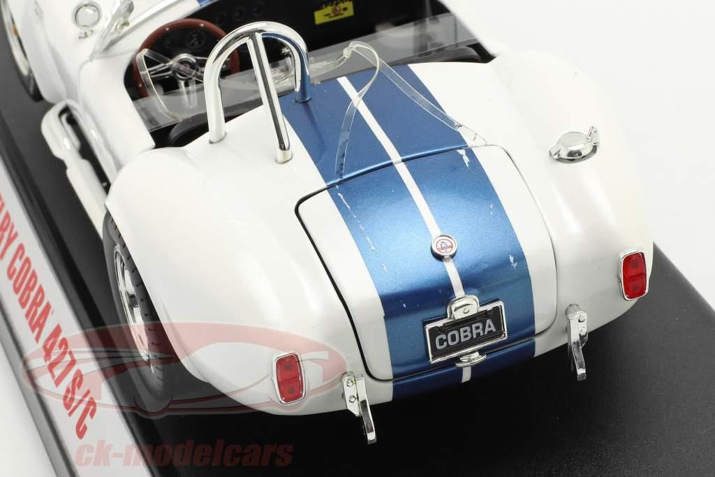 Shelby Cobra 427 S/C bouwjaar 1965 Wit / blauw 1:18 ShelbyCollectibles 2. keuze